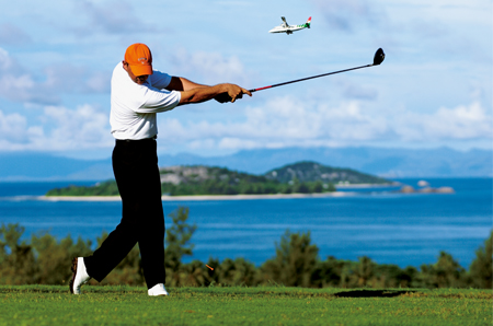 Golf course Seychelles