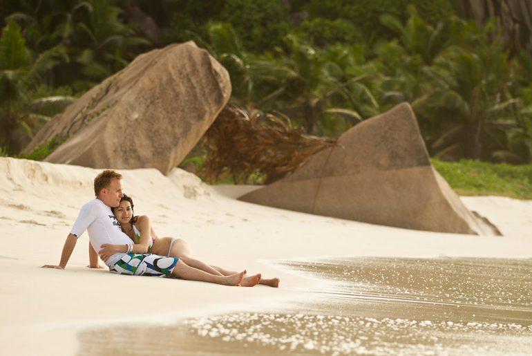 Sunbathing Seychelles