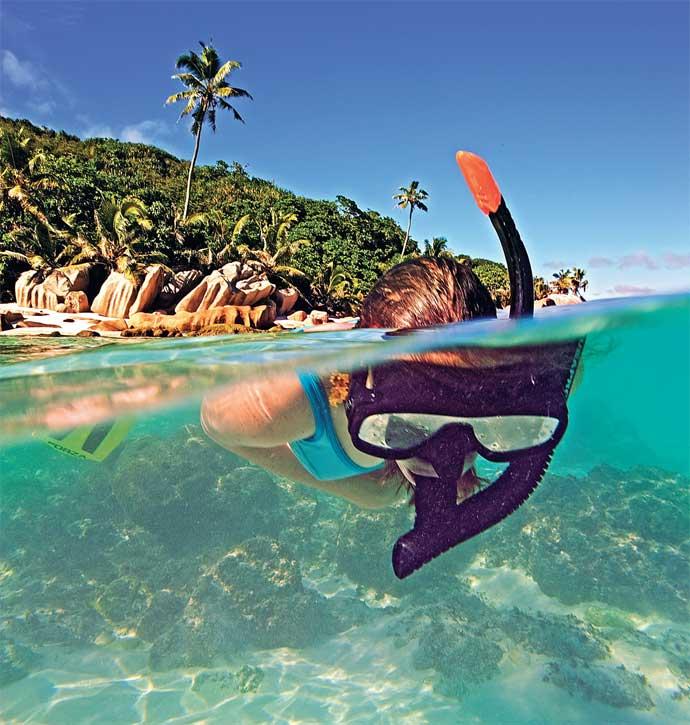 Snorkeling near Cousin Island