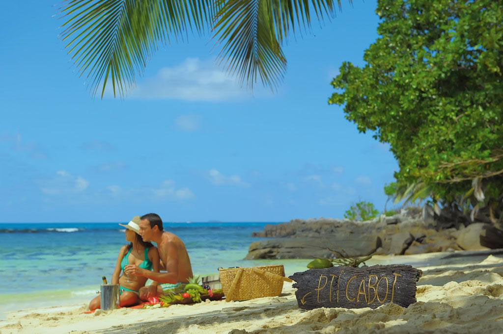 Couple on Seychelles Beach