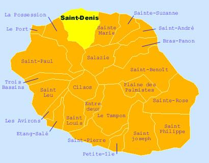 Saint-Denis sur la Carte