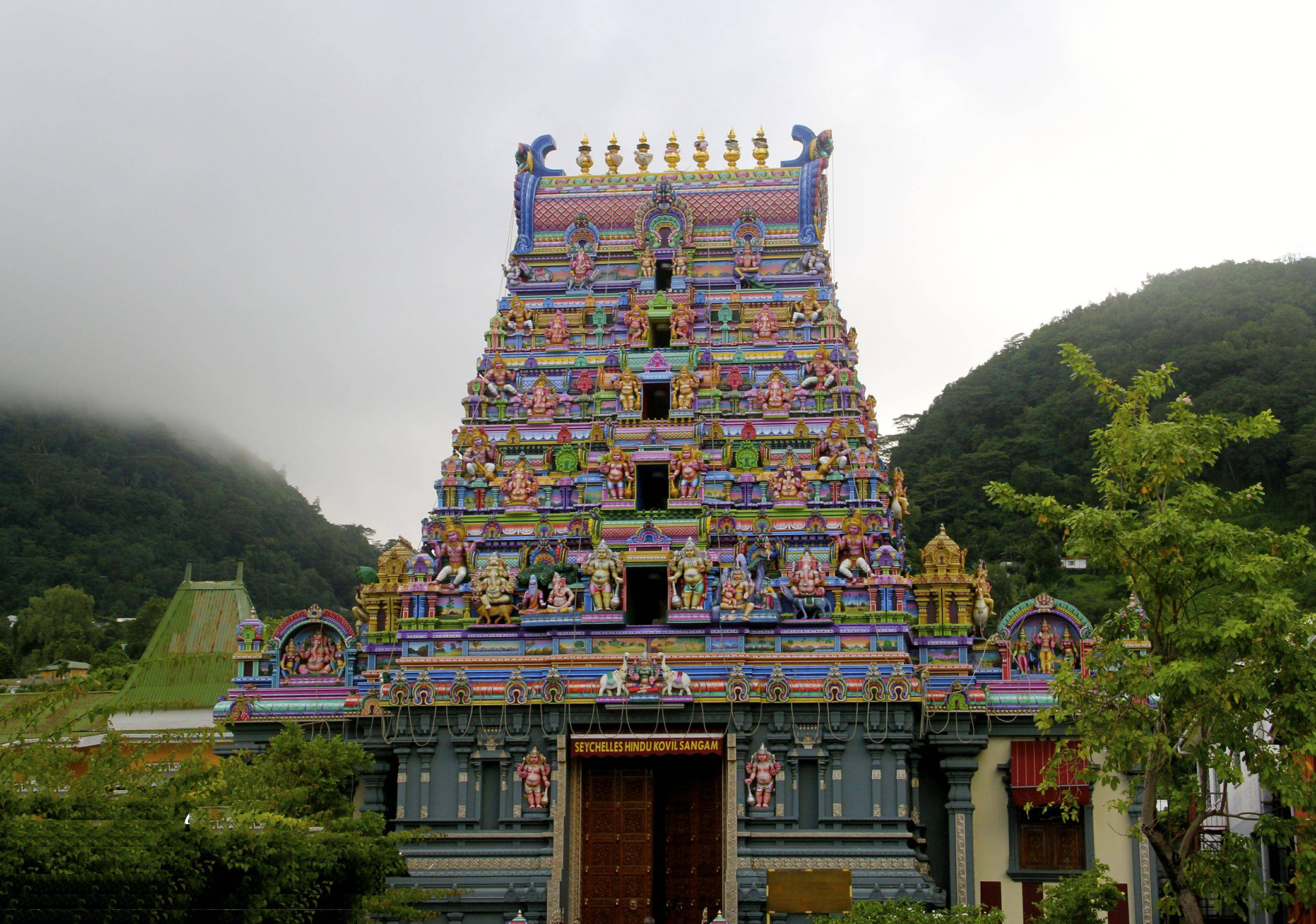 The only temple in Seychelles