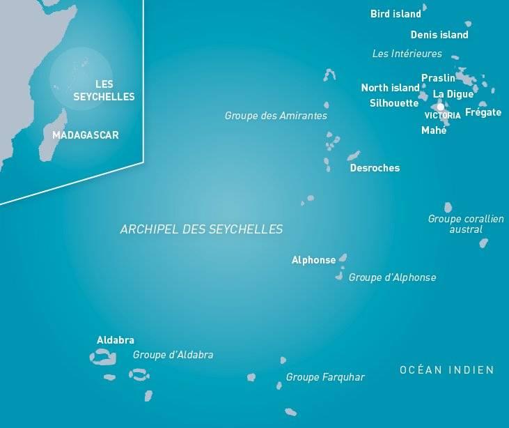 Carte des Seychelles