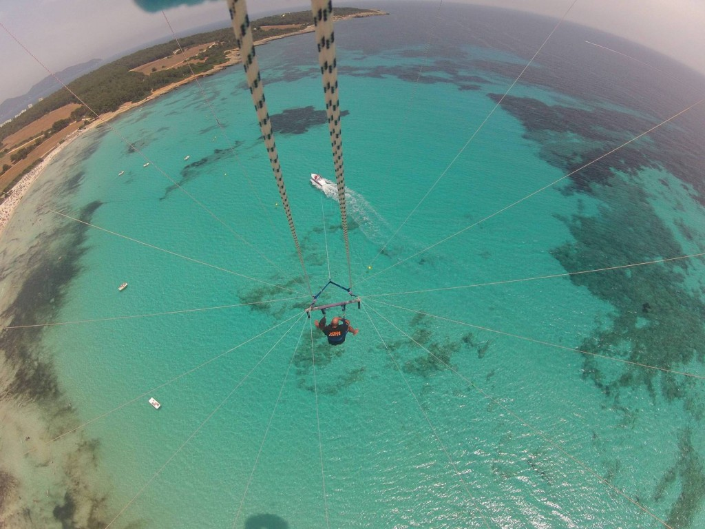 Amazing Picture taken while Parasailing inside the lagoon of Mauritius