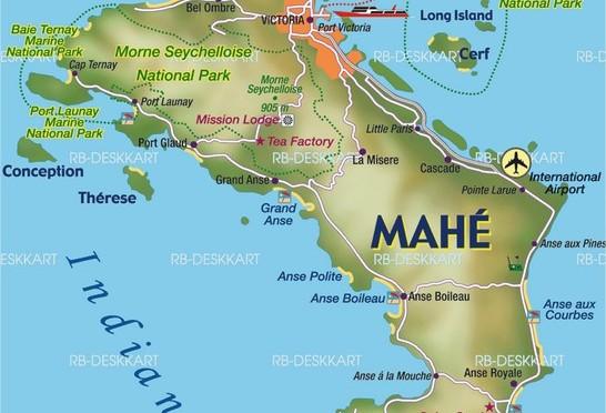 mahé-map-Seychelles