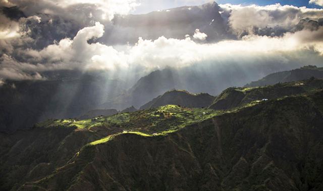 Cilaos caldera Reunion Island