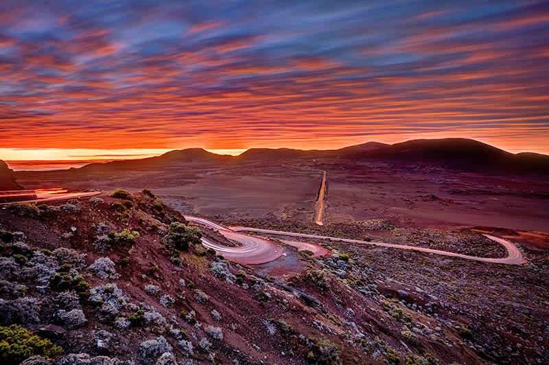 Sunrise in Plaine des sables