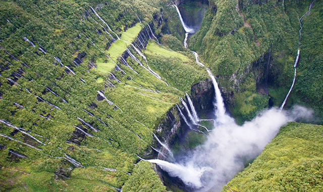 One of the many waterfalls of Reunion Island