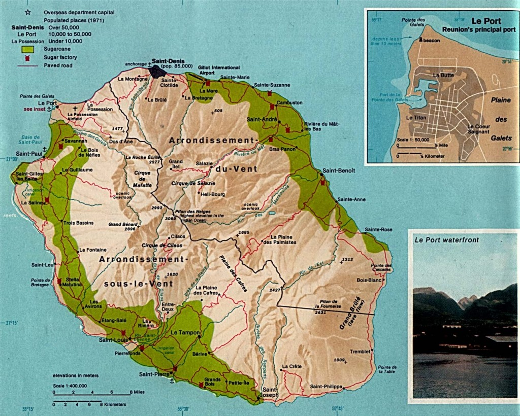 Map of Reunion Island