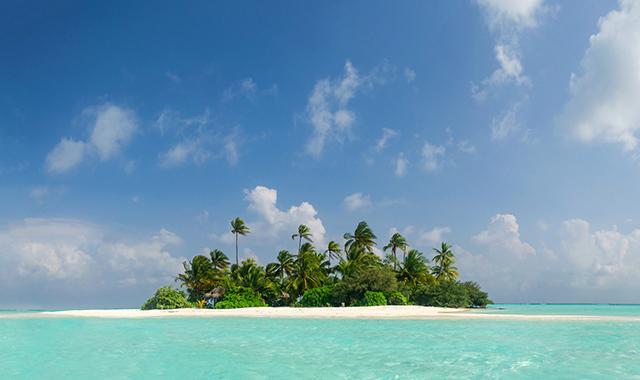 Île déserte aux Maldives