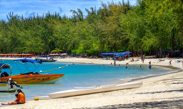 Mont Choisy beach in Mauritius