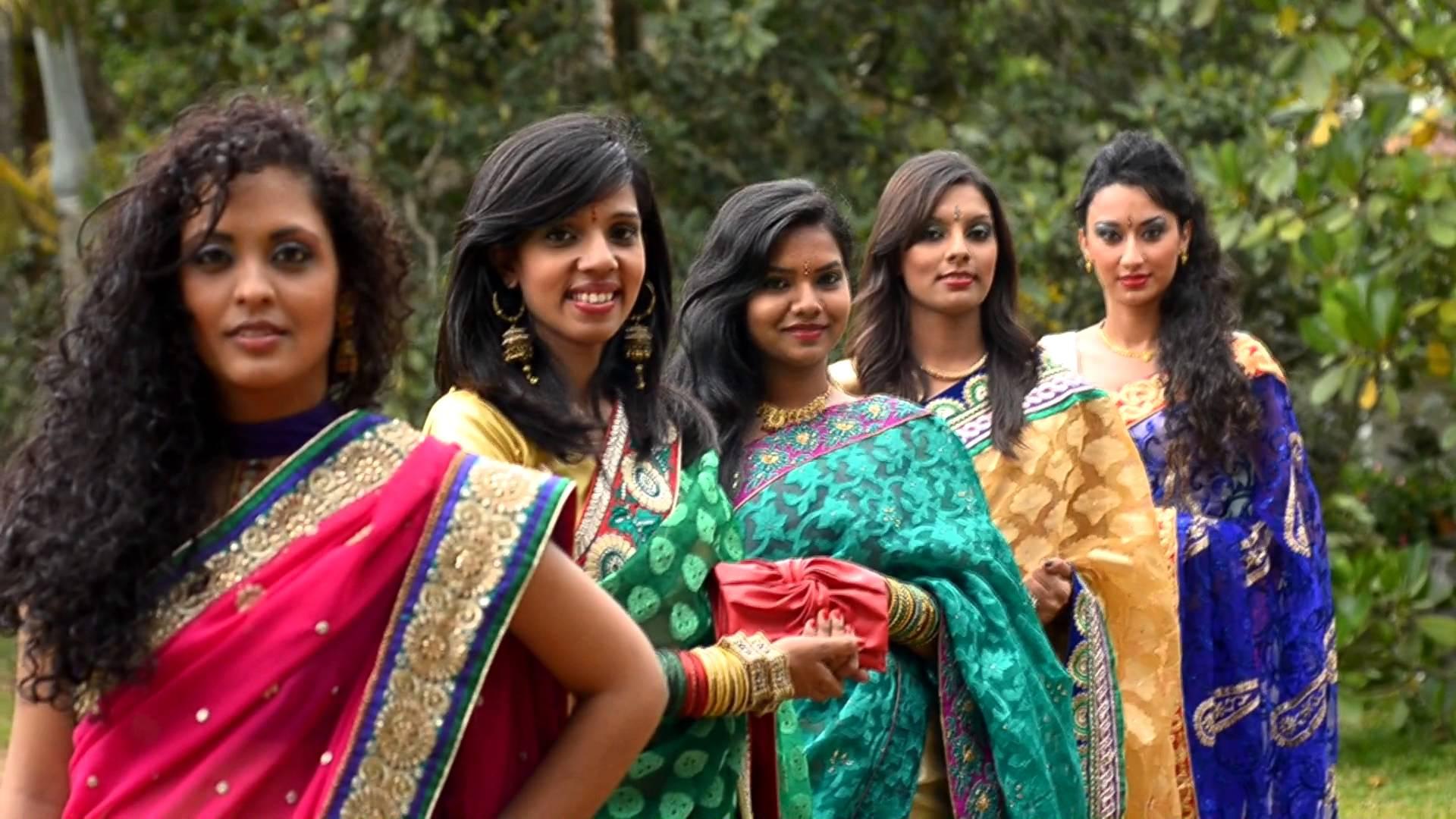 Mauritian ladies saree