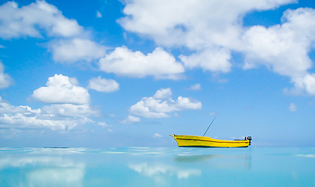 Mauritius turquoise lagoon