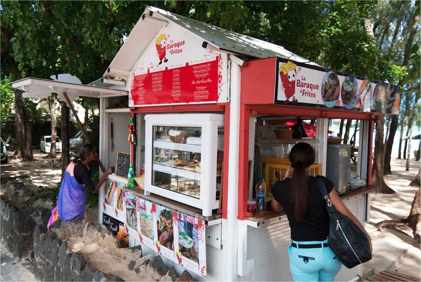 Mauritius Beach restaurant snack