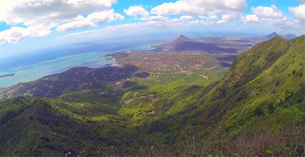 Mauritius bird view