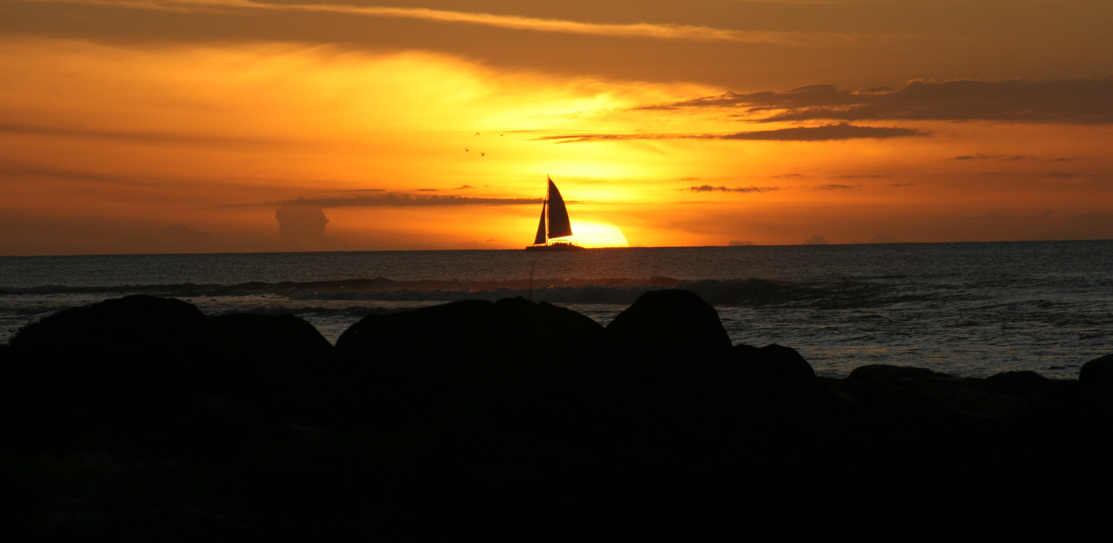 Sunset in Tamarin Mauritius