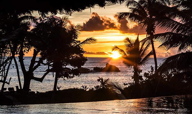 coucher de soleil Praslin