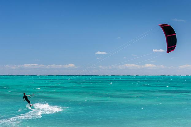 Kitesurfer Pointe d'Esny