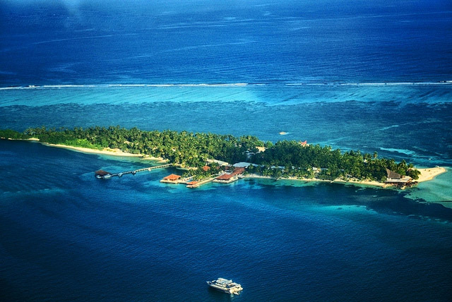 Maafushi Maldives top view