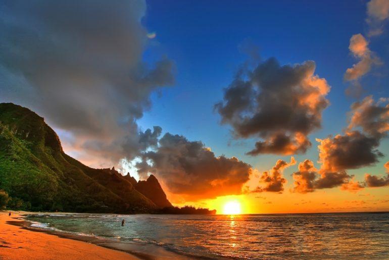 mauritius island beach nighr