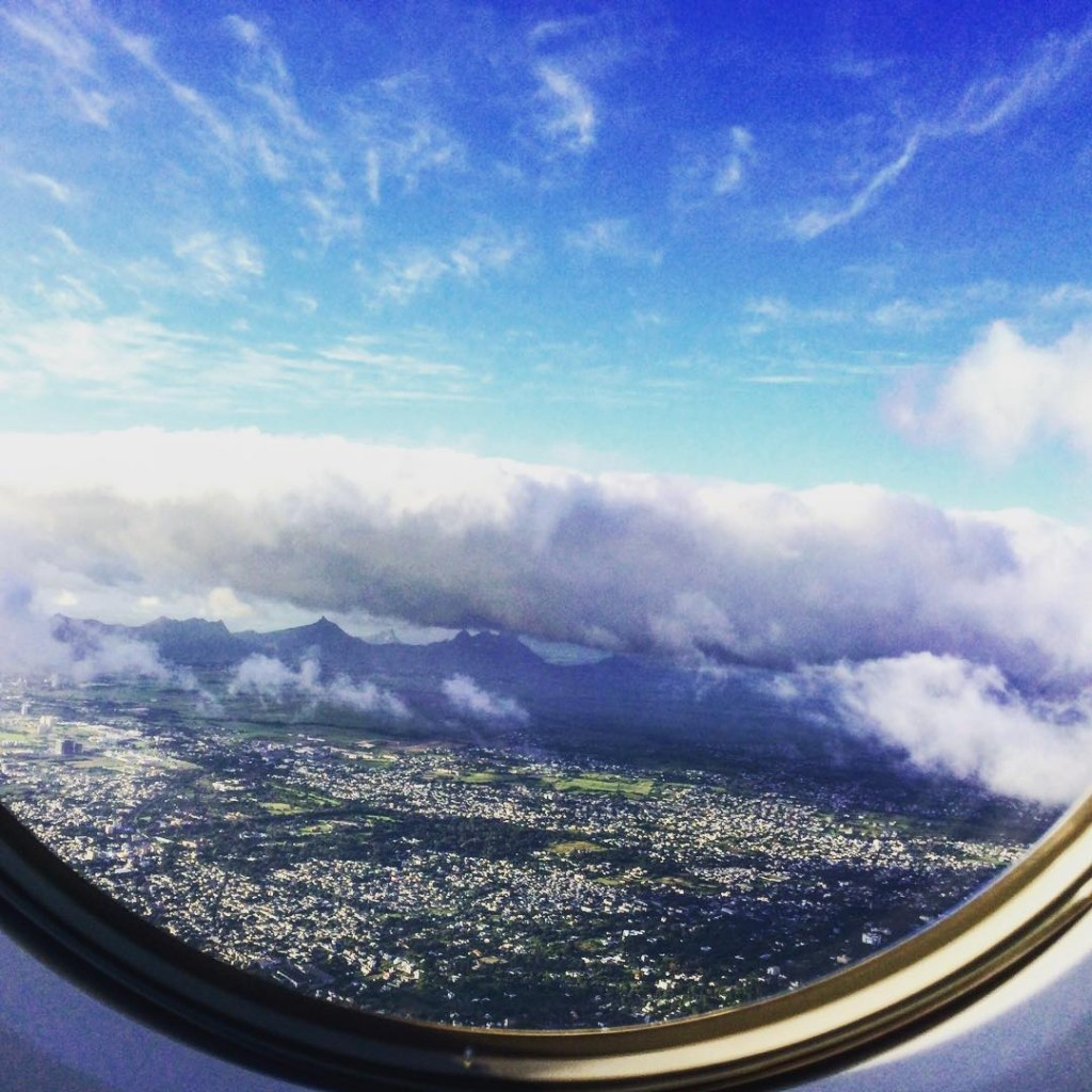 Mauritius from the sky