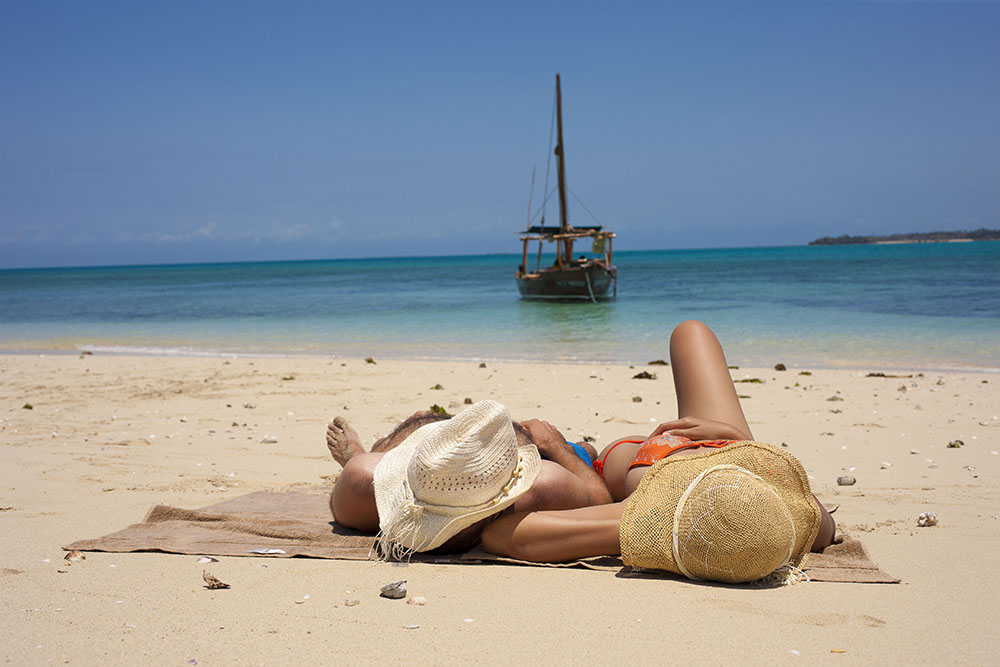 resting beautiful beach