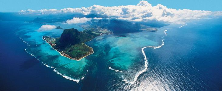 Mauritius top view