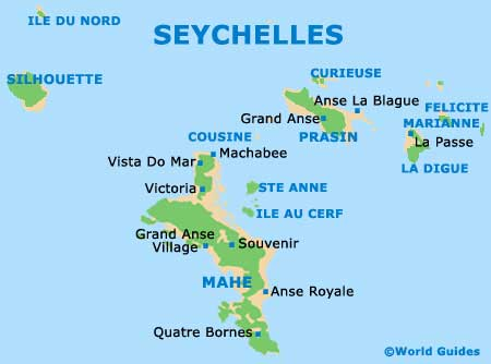 Main Islands of Seychelles