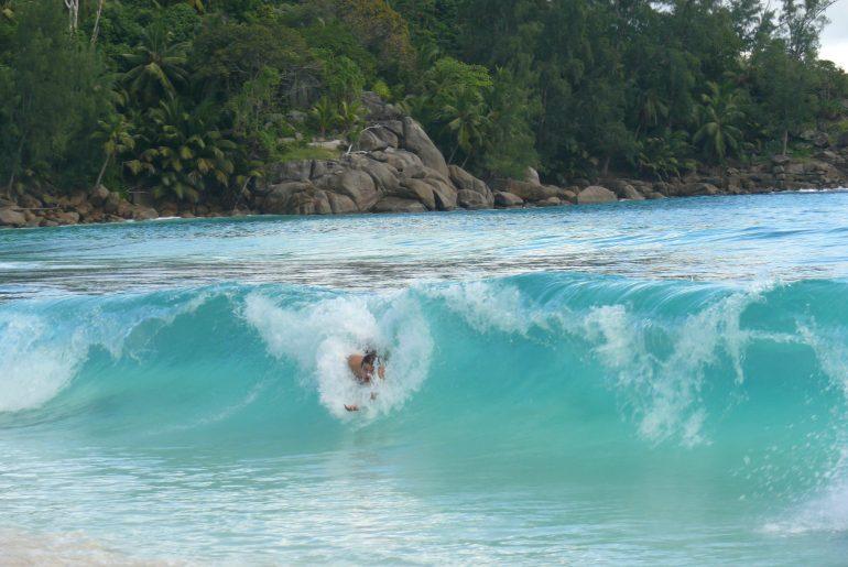 Surfing Seychelles