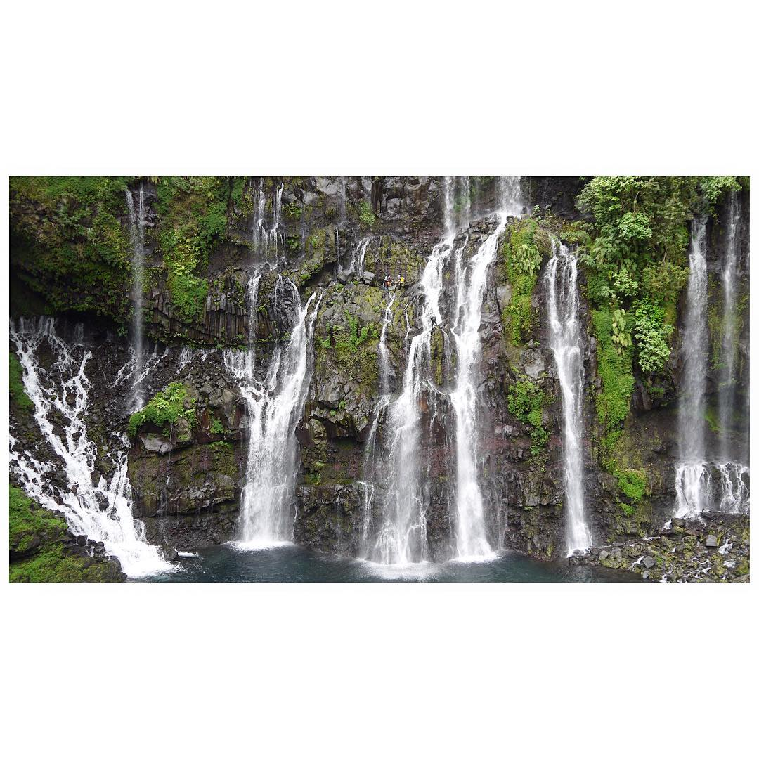Reunion Island waterfall