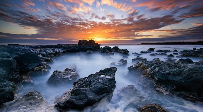 Reunion Island sunset