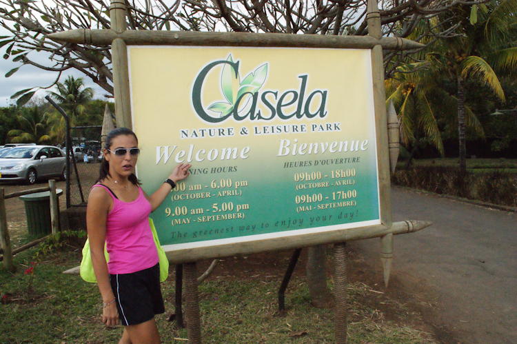 Mauritius attractions: Casela entrance