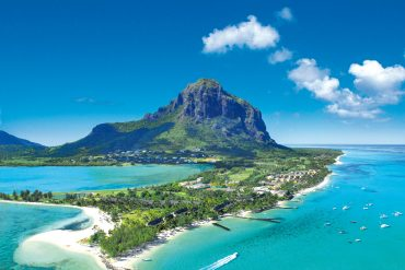 Mauritius attractions: Top view of Le morne