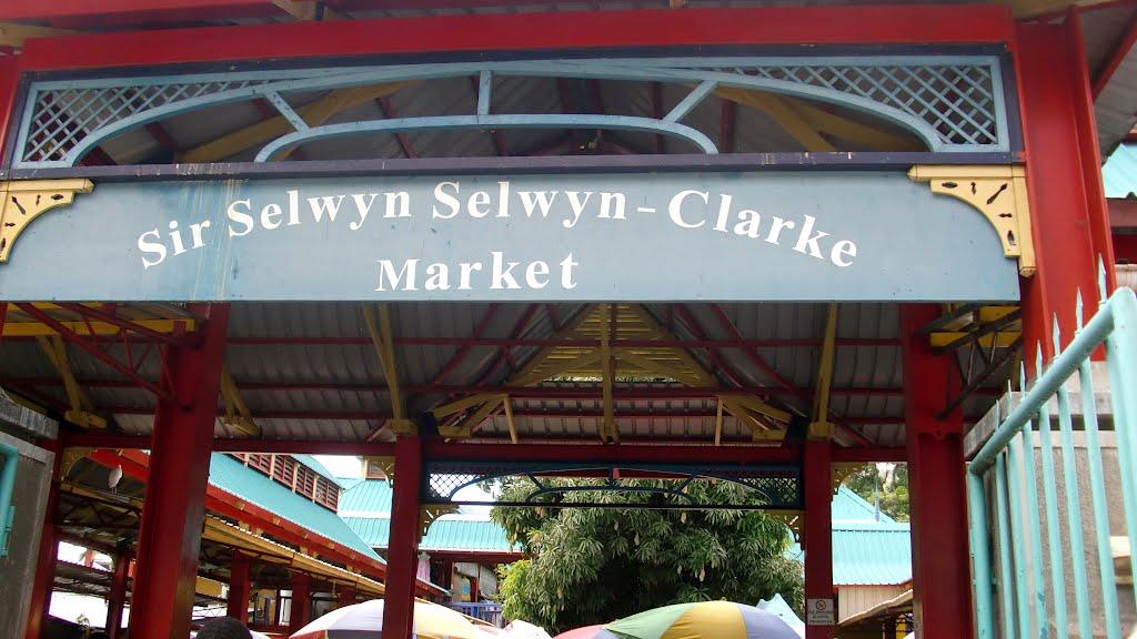 market entrance Seychelles