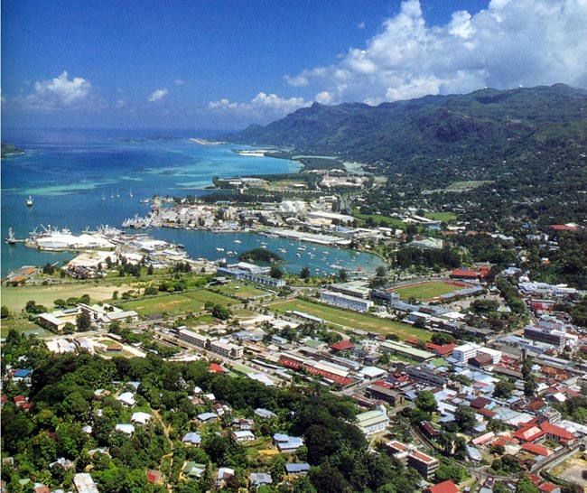 Victoria mahé island seychelles top view