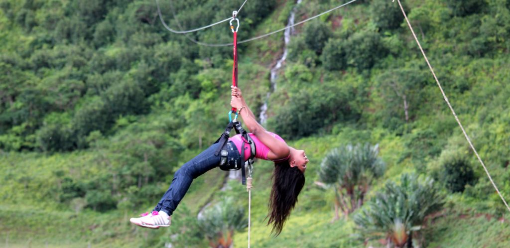 Mauritius attractions: Zipline at vallée des couleurs