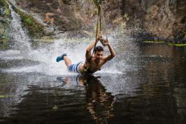 Mauritius attractions: Zipline at Casela Nature Park