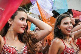 Seychelles Carnival participant