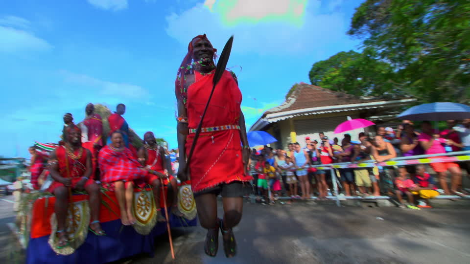 Masai warriors in Seychelles Carnival