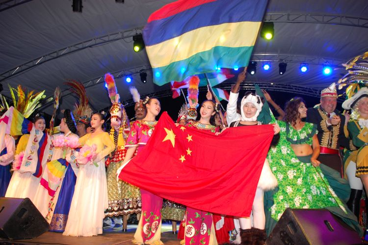 Grand gathering of different cultures in Seychelles Carnival
