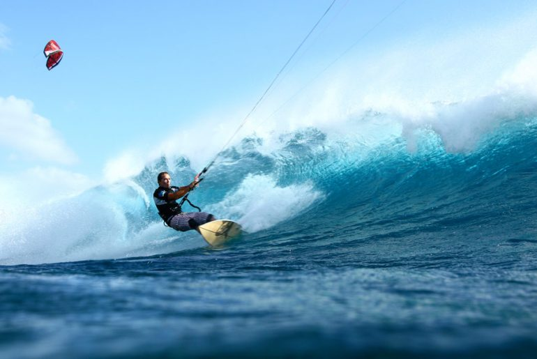 kitesurfing in Indian Ocean