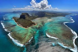 le morne from the sky