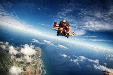 Tandem Skydiving in Mauritius