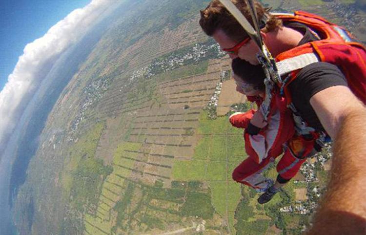 skydiving trip