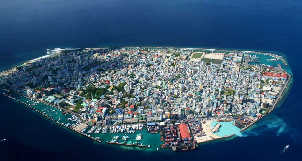 The capital of the Maldives- Malé