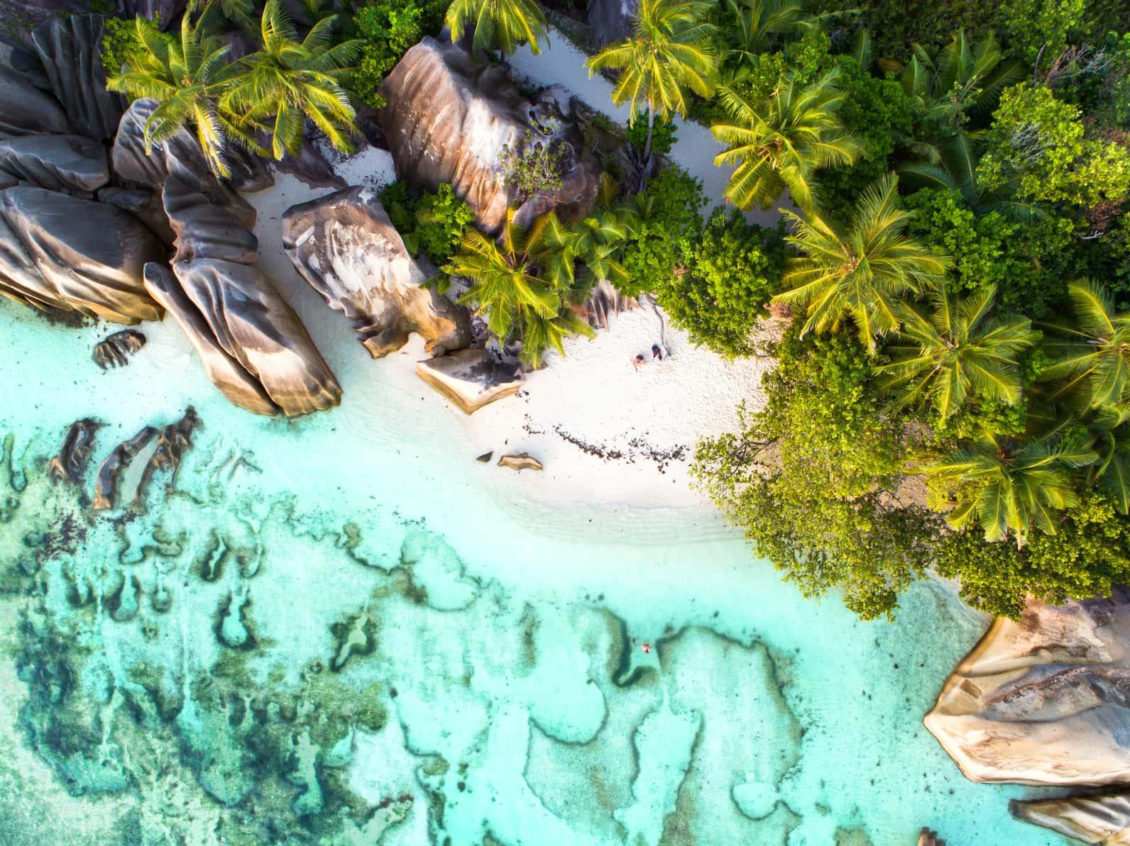 Desert beach in Seychelles