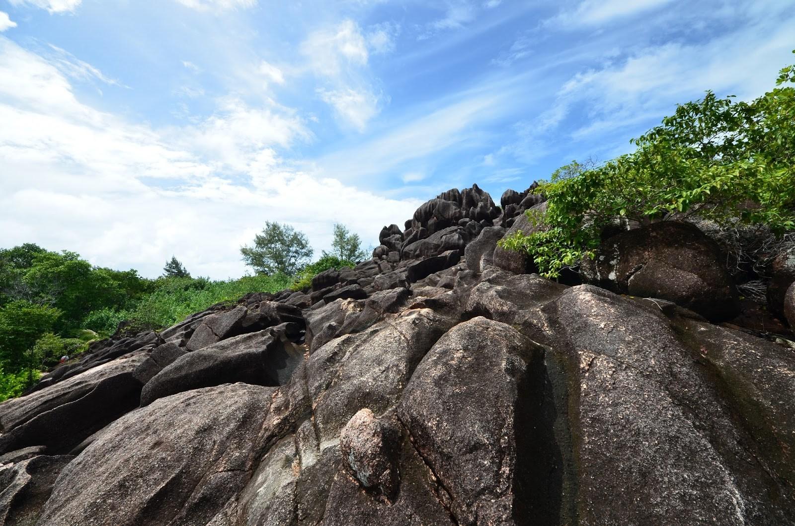 Granitic rock Seychelles