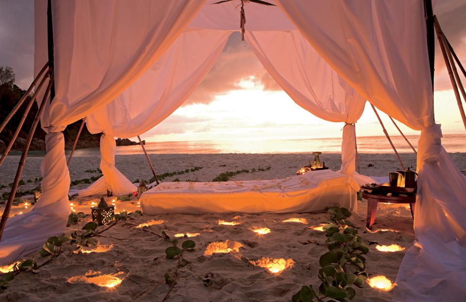 Sunset beach Seychelles