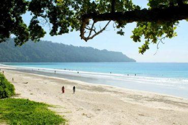 India's Radhanagar beach in Andaman Islands