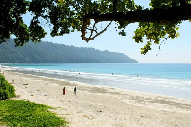 India's Radhanagar beach in Andaman Islands